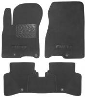Коврики в салон для Kia Niro '17- текстильные, черные (Люкс) 5 клипс