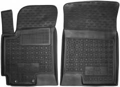 Коврики в салон передние для Kia Rio 2017 (росс. сборка) резиновый, черный (AVTO-Gumm)