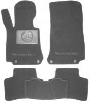 Коврики в салон для Mercedes GLC-Class X253 '15- текстильные, серые (Премиум) 4 клипсы