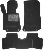 Коврики в салон для Mercedes GLC-Class X253 '15- текстильные, черные (Люкс) 4 клипсы