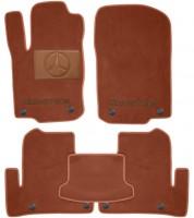 Коврики в салон для Mercedes GLE-Coupe C292 '15- текстильные, терракотовые (Премиум) 8 клипс