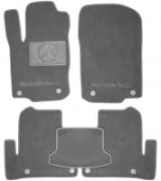 Коврики в салон для Mercedes GLE-Coupe C292 '15-  текстильные, серые (Люкс) 8 клипс