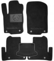 Коврики в салон для Mercedes GLE-Coupe C292 '15-  текстильные, черные (Люкс) 8 клипс