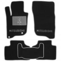 Коврики в салон для Mitsubishi Pajero Sport '16- текстильные, серые (Люкс) 4 клипсы