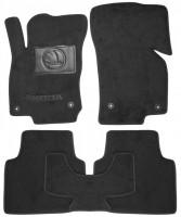 Коврики в салон для Skoda Superb '15- текстильные, черные (Люкс) 4 клипсы