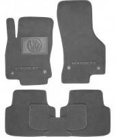 Коврики в салон для Volkswagen Passat B8 '15-  текстильные, серые (Люкс) 4 клипсы