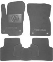 Коврики в салон для Volkswagen Tiguan '16- текстильные, серые (Премиум) 4 клипсы