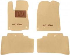 Коврики в салон для Acura MDX '14-  текстильные, бежевые (Премиум) 6 клипс