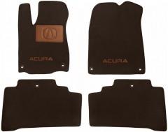Коврики в салон для Acura MDX '14- текстильные, коричневые (Премиум) 6 клипс