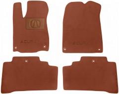 Коврики в салон для Acura MDX '14- текстильные, терракотовые (Премиум) 6 клипс