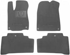 Коврики в салон для Acura MDX '14-  текстильные, серые (Люкс) 6 клипс
