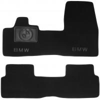 Коврики в салон для BMW i3 '13- текстильные, черные (Премиум)