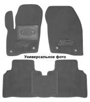 Коврики в салон для Ford Mustang '15- текстильные, серые (Премиум) 2 клипсы