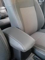Авточехлы Premium для салона Volkswagen Transporter T5 '03-15, пассажирский (10 мест) серая строчка (MW Brothers)