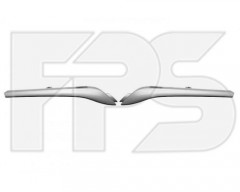 Молдинг решетки для Renault Kangoo '13- левый+правый, серый металик (FPS)