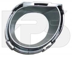 Окуляр решетки под ПТФ для Volkswagen Touareg '07-09 левый, хром (FPS)