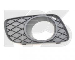 Решетка бампера для Mercedes Smart Fortwo '08-12 правая с отверстием под ПТФ под покраску, круглая ПТФ (FPS)