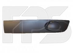 Решетка бампера для Volvo Transporter T5 '03-15 левая, без отверстия, темно- серая текстура (FPS)
