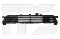 Решетка бампера для Mitsubishi Outlander '12- средняя, черная (FPS)