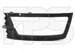 Решетка бампера для Skoda Rapid '13- правая с отверстием под ПТФ (FPS)