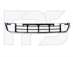 Решетка бампера для Skoda Roomster '10-15 средняя, черная, азит. версия (FPS)