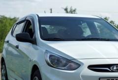 Дефлекторы окон для Hyundai Accent (Solaris) '11-17, хетчбек (Auto Сlover)
