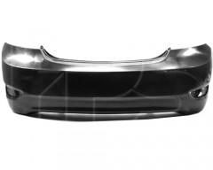 Задний бампер Hyundai Accent (Solaris) '11-15 седан без отв. п/троник, черный (FPS)