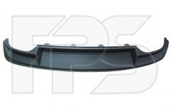 Спойлер заднего бампера Skoda Octavia A7 '13- лифтбек без выреза под фаркоп, черный (FPS)