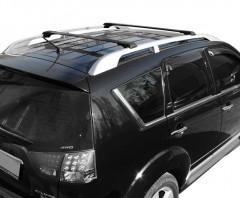 Багажник универсальный аэродинамический на рейлинги Erkul черный (от 110 до 118 см.)