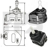 Корректор фары для Volkswagen Passat B5 '97-05 (FPS) тип HELLA 6NM 007 878-041