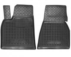 Коврики в салон передние для Tesla Model S '12- резиновые, черные (AVTO-Gumm)