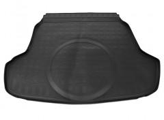 Коврик в багажник резино-пластиковый для Hyundai Sonata '15- с выступом под запаску (Nor-Рlast) черный