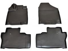 Коврики в салон для Honda Pilot '16- полиуретановые, черные (Nor-Plast)