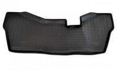 Коврик в салон для Honda Pilot '16- 3 ряд полиуретановый, черный (Nor-Plast)