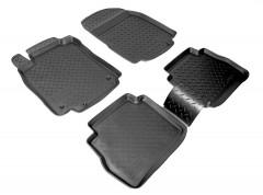 Коврики в салон для Nissan Tiida '05-14 полиуретановые, черные (Nor-Plast)