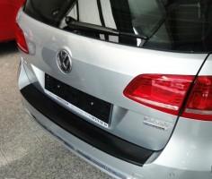 Накладка на задний бампер для Volkswagen Passat B7 '10-14 универсал, полиуретановая (ASP)