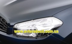 Защита фар для Nissan Qashqai '10- прозрачная 2 шт. (EGR)