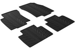 Коврики в салон для Renault Koleos '17- резиновые, черные (GledRing)