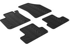 Коврики в салон для Renault Megane 4 '16- резиновые, черные (GledRing)