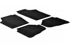 Коврики в салон для Volkswagen Fox '05- резиновые, черные (GledRing)
