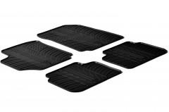 Коврики в салон для Fiat Croma '05-11 резиновые, черные (GledRing)
