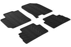 Коврики в салон для Hyundai Kona '17- резиновые, черные (GledRing)