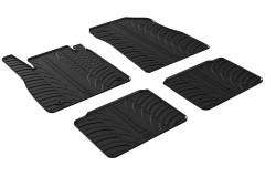 Коврики в салон для Nissan Micra '17- резиновые, черные (GledRing)
