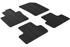 Коврики в салон для Volvo XC60 2017 - резиновые, черные (GledRing)