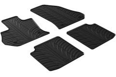 Коврики в салон для Fiat 500L 2017- резиновые, черные (GledRing)