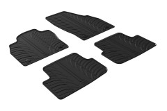 Коврики в салон для Volkswagen Polo '17- резиновые, черные (GledRing)