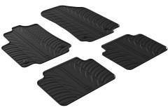 Коврики в салон для Citroen C3 Aircross '17- резиновые, черные (GledRing)