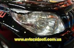 Защита фар для Toyota Land Cruiser Prado 150 2010 - 2013 прозрачная 2 шт. (EGR)