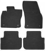 Коврики в салон для Volkswagen Tiguan '16- резиновые, черные 5NB06150082V, 4 клипсы