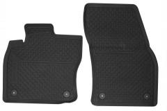 Коврики передние в салон для Volkswagen Tiguan '16- резиновые, черные 5NB06150282V, 4 клипсы